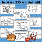 The Ocean Mini Book for Early Readers: Ocean Animals