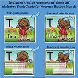 Alphabet Flash Cards for Early Readers - Women's History Month