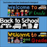 Back to School Cut n' Color Bookmarks