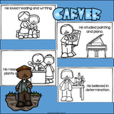 George Washington Carver Mini Book for Early Readers: Black History Month