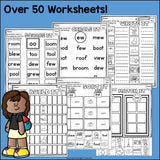 Vowel Pairs OO, EW Worksheets and Activities for Early Readers
