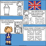 Margaret Thatcher Mini Book for Early Readers: Women's History Month
