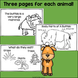 The Prairie Mini Book for Early Readers: Prairie Animals