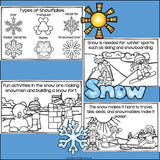Snow Mini Book for Early Readers
