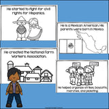 Cesar Chavez Mini Book for Early Readers: Hispanic Heritage Month