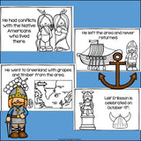 Leif Eriksson Mini Book for Early Readers: Early Explorers