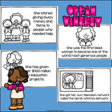 Oprah Winfrey Mini Book for Early Readers: Women's History Month