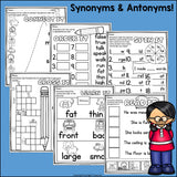 Synonyms & Antonyms Worksheets and Activities for Early Readers