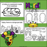 Mardi Gras Mini Book for Early Readers