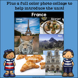 France Mini Book for Early Readers - A Country Study