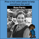 Rosa Parks Mini Book for Early Readers: Black History Month