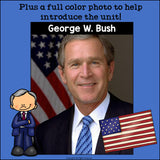George W. Bush Mini Book for Early Readers: Presidents' Day