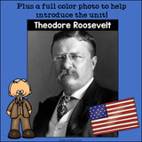 Theodore Roosevelt Mini Book for Early Readers: Presidents' Day