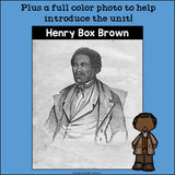 Henry Box Brown Mini Book for Early Readers: Black History Month