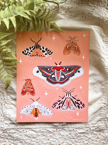 Love of Moths Art Print