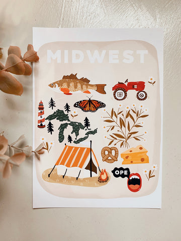 Midwest Things Art Print