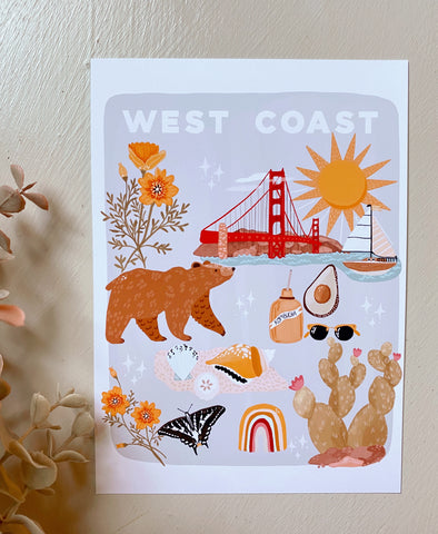 West Coast Things  Art Print