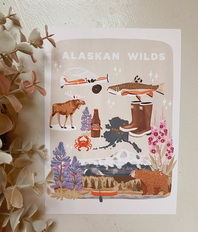 Alaskan Wilds Art Print