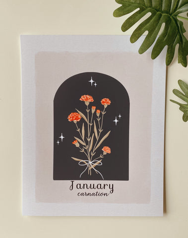 January Carnation Art Print