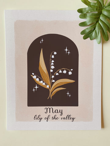 May Lily of the Valley Art Print