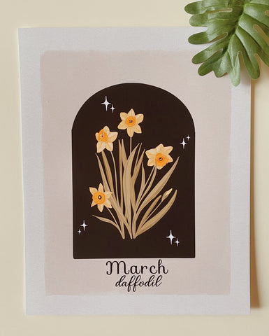 March Daffodil Art Print