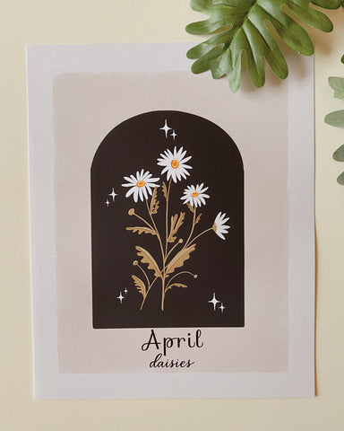April Daisies Art Print