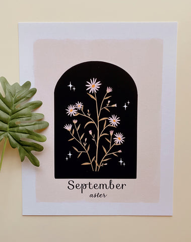 September Aster Art Print