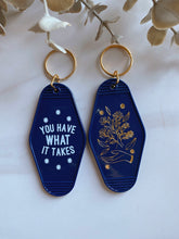 Load image into Gallery viewer, Navy Blue You Have What It Takes Hotel Keychain