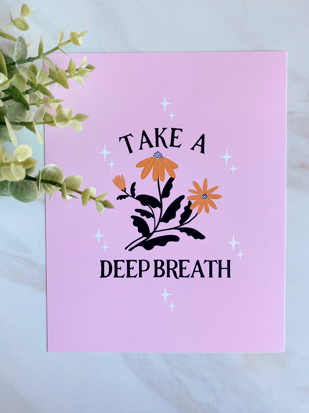 Take a Deep Breath Art Print