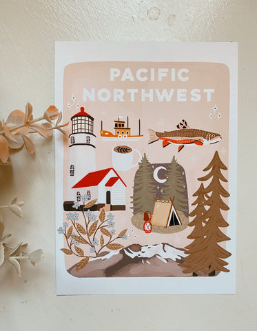 Pacific Northwest Things Art Print