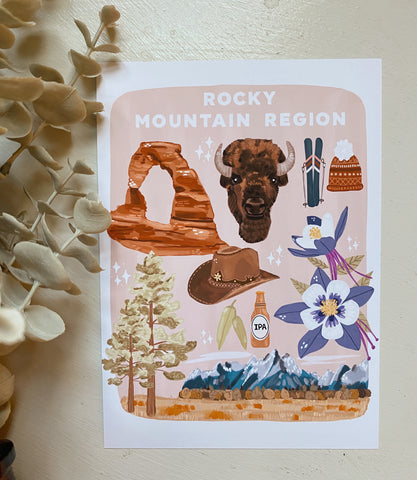 Rocky Mountain Region Art Print