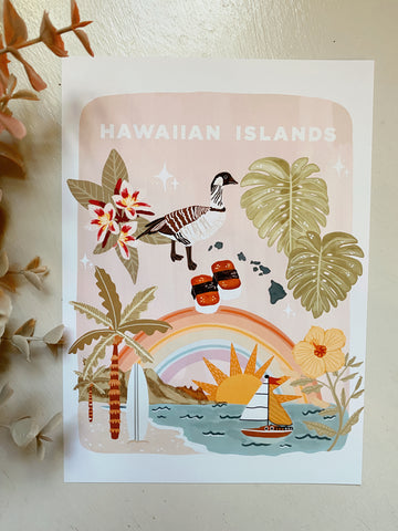 Hawaiian Islands Art Print