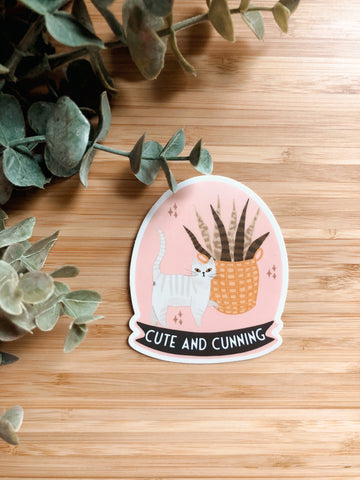 Cute & Cunning Sticker