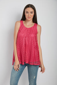 Lace Overlay Top 200148K
