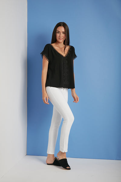 ALLY Short Sleeve V-Neck Top