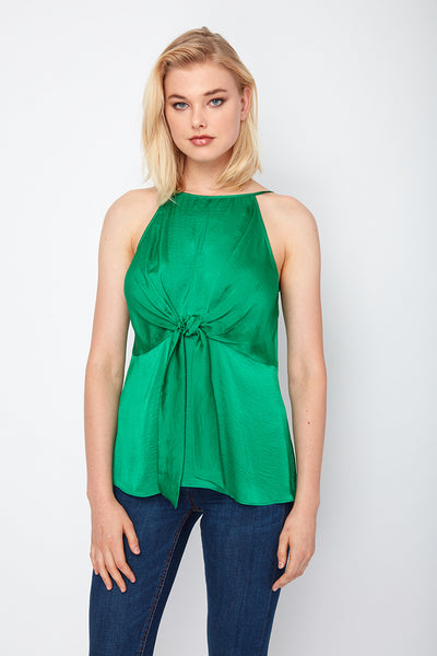 Cold Shoulder Twist Knot Waist Cassie Top