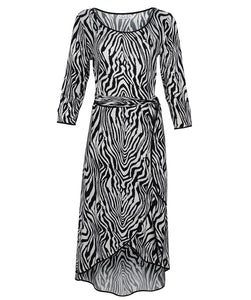 Zebra Printed Dress 91133S