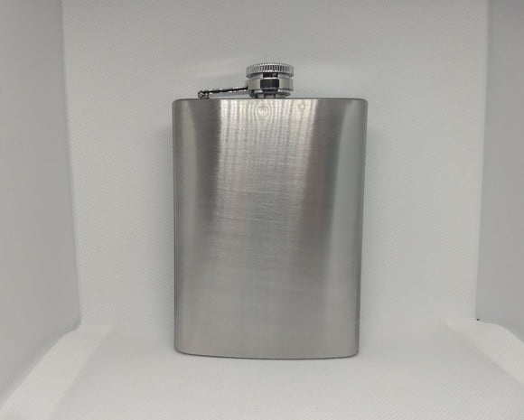 Custom Engraved Stainless Steel 8 oz Flask