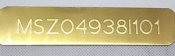 Custom Engraved HIN Hull Identification Number