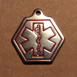 Custom Engraved Medical Alert Stainless Steel Charm