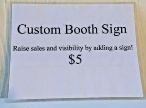 Custom Laminated Sign - Vendors Fleamarkets Booths