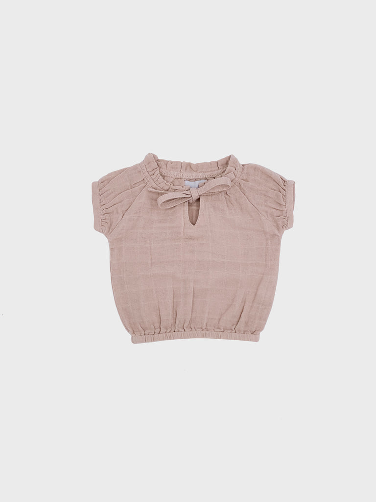 Marley Blouse Light Beige/Pink (4598897770635)