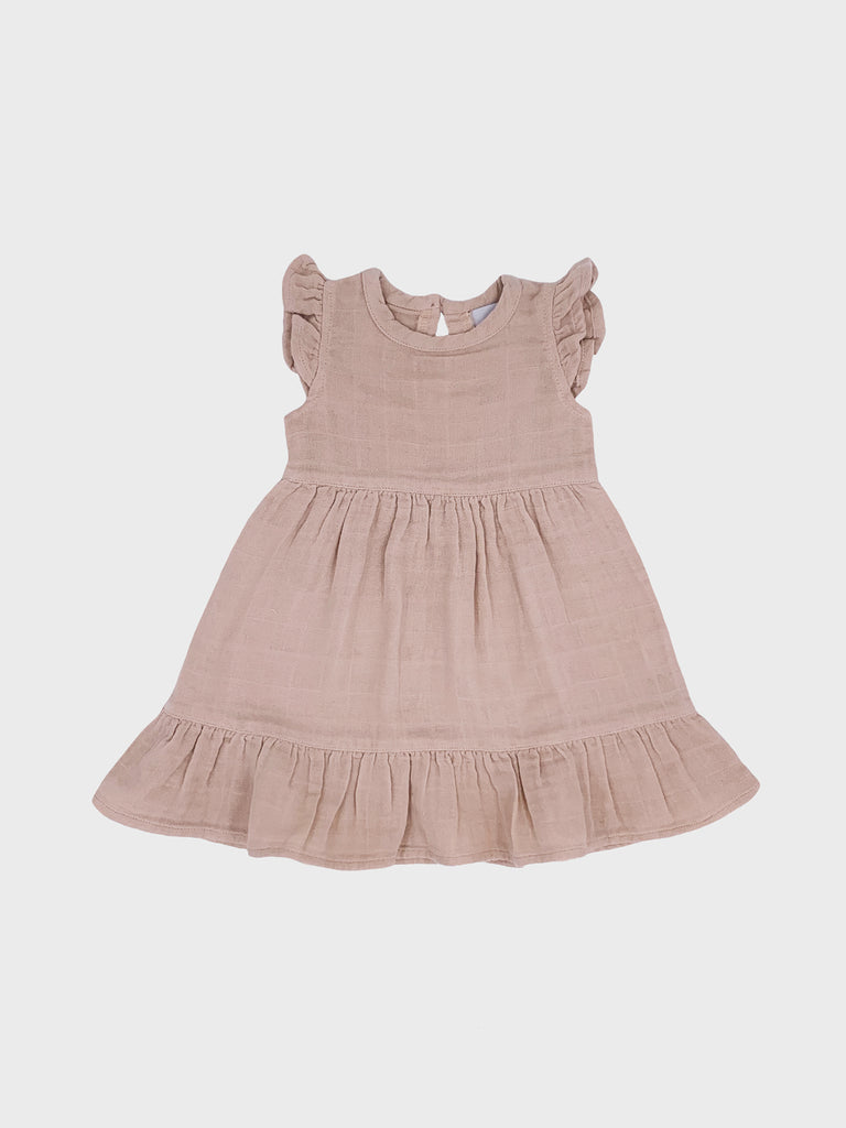 Audrey Dress Light Beige/Pink (4645414043787)