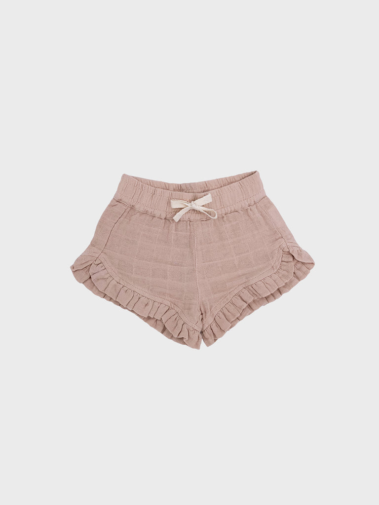 Isla Frilly Shorts Light Beige/Pink (4649829859467)