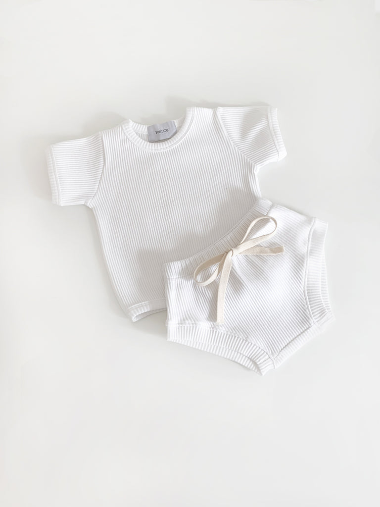 Baby White Cotton Rib Set (4184890507403)