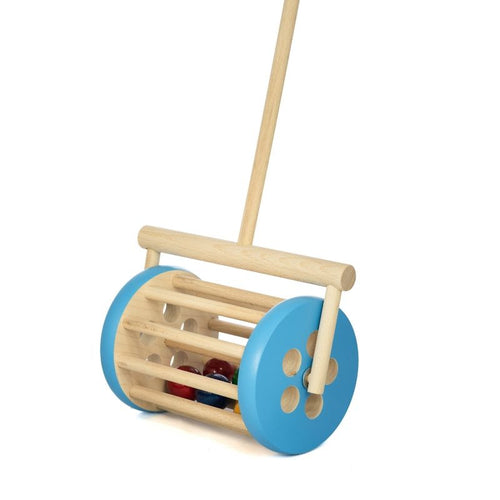 Push Along Walker Toy - Blue Drum