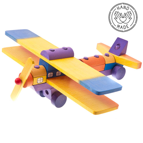 Wooden Aiplane Construction Stacker Toy - JOIZI