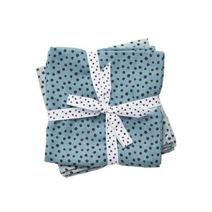 Blue Muslin Swaddle for Baby - Done by Deer