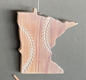 "The State of Minnesota Baseball - 10.5"" x 10"""