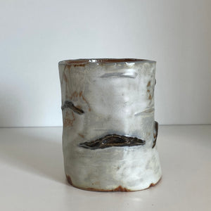 Birch pottery candle holder